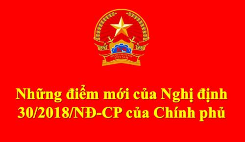 Nghị định số 30/2018/NĐ-CP